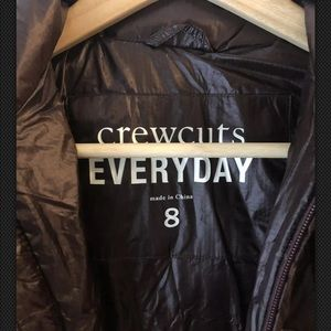 Crewcuts Everyday Brown Quilted Down Jacket Sz. 8